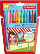 Blister de 12 feutres de coloriage Power - Stabilo